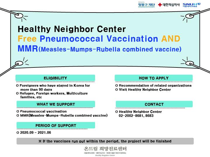 외국인 취약계층 감염병(폐렴구균, MMR) 무료예방접종 지원사업-en